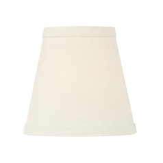 White Linen Conical Lamp Shade with Clip-On Assembly