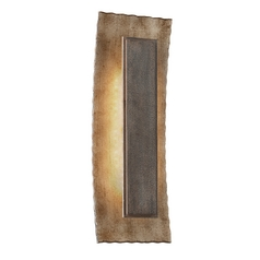 LED Outdoor Wall Light in Warm Silver / Forged Bronze Finish