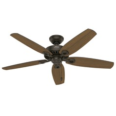 Hunter Fan Company Builder Elite Damp New Bronze Ceiling Fan Without Light
