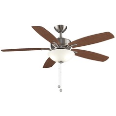 Fanimation Fans Aire Delux Brushed Nickel Ceiling Fan with Light