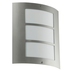 Eglo City Stainless Steel Outdoor Wall Light