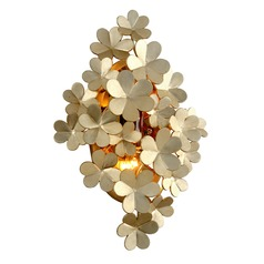 Corbett Lighting Gigi Silver Leaf Sconce