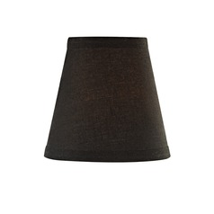 Black Paper Conical Lamp Shade with Clip-On Assembly