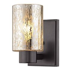 Mercury Glass Sconce Bronze