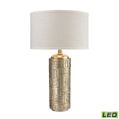 Dimond Lighting Antique Silver Leaf LED Table Lamp with Drum Shade