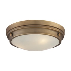 Savoy House Lighting Lucerne Warm Brass Flushmount Light