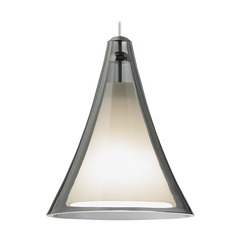 Mini Melrose II Satin Nickel Mini-Pendant Light by Tech Lighting