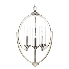 Transitional Mini-Chandelier Polished Nickel Silver Accent Evoke by Progress Lighting