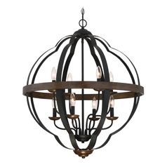 Quoizel Lighting Siren Marcado Black Pendant Light with Globe Shade
