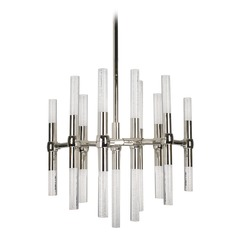 Modern Polished Nickel LED Mini-Chandelier with Clear Shade 3000K 1810LM
