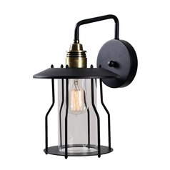 Mid-Century Modern Outdoor Wall Light Bronze and Black Trevor by Kenroy Home Lighting