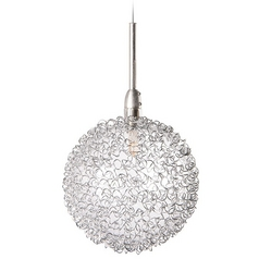Modern Low Voltage Mini-Pendant Light with Clear Glass