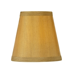 Golden Conical Lamp Shade with Clip-On Assembly