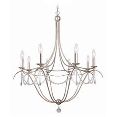 Crystal Chandelier in Antique Sliver Finish