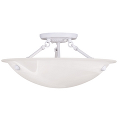 Livex Lighting Oasis White Semi-Flushmount Light