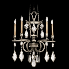 Fine Art Lamps Encased Gems Vintage Silver Leaf Crystal Chandelier
