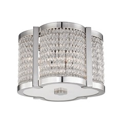 Hudson Valley Lighting Ballston Polished Nickel Flushmount Light