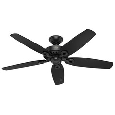 Hunter Fan Company Builder Elite Damp Matte Black Ceiling Fan Without Light