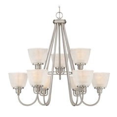 Quoizel Lighting Prismatic Glass Brushed Nickel Chandelier