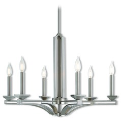 Livex Lighting Trumbull Brushed Nickel Chandelier