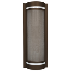 Outdoor Wall Light with White in Bronze Finish