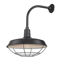 Black Gooseneck Barn Light with 18