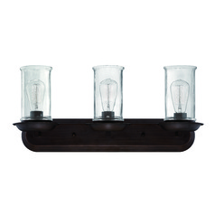Lodge / Rustic / Cabin Bathroom Light Bronze Thornton by Craftmade Lighting