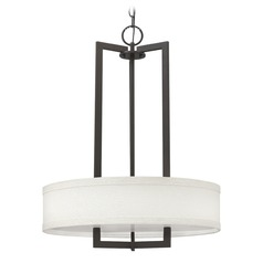 Hinkley Lighting Hampton Buckeye Bronze Pendant Light with Drum Shade