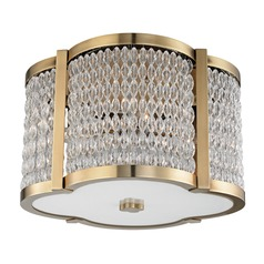 Hudson Valley Lighting Ballston Aged Brass Flushmount Light