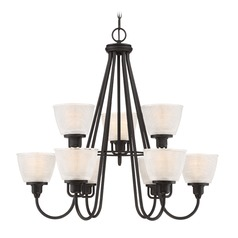 Quoizel Lighting Prismatic Glass Mystic Black Chandelier