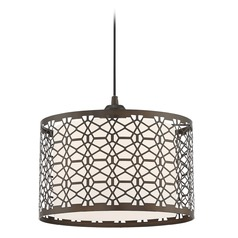 Lite Source Julia Pendant Light with Drum Shade