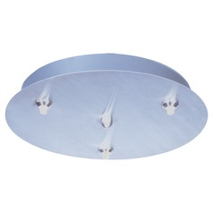 Rapidjack Xenon Satin Nickel Ceiling Adaptor