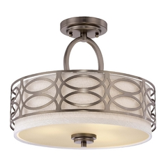 Modern Semi-Flushmount Lights in Hazel Bronze Finish