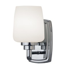 Design Classics Lighting Polished Chrome Sconce with 8-Watt LED Bulb 461-26/8W LED
