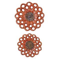 Uttermost Carilla Ceramic Medallions Set of 2
