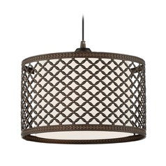 Lite Source Jules Pendant Light with Drum Shade