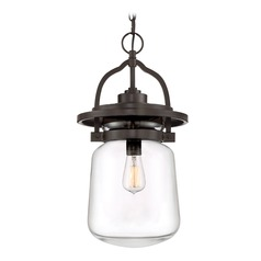 Country / Cottage Outdoor Hanging Light Bronze LaSalle by Quoizel Lighting