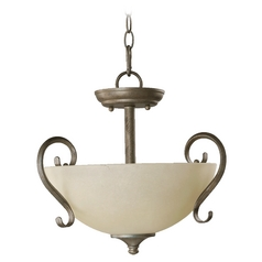 Quorum Lighting Powell Mystic Silver Pendant Light