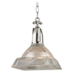 Langdon 1 Light Pendant Light Square Shade - Polished Nickel