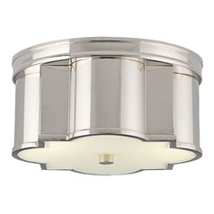 Currey and Company Wicklow Polished Nickel Flushmount Light