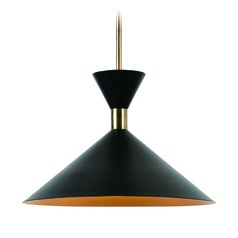Mid-Century Modern Pendant Light Black Arne by Kenroy Home