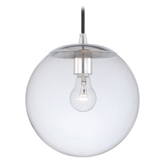 630 Series Polished Nickel Mini-Pendant Light with Globe Shade by Vaxcel Lighting
