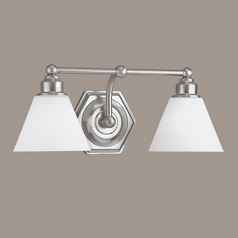 Norwell Lighting Jenna Brush Nickel Bathroom Light