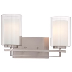 Minka Parsons Studio Brushed Nickel Bathroom Light