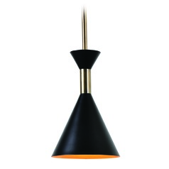 Mid-Century Modern Mini-Pendant Light Black Arne by Kenroy Home