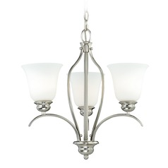Darby Satin Nickel Mini-Chandelier by Vaxcel Lighting