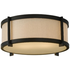 Modern Flushmount Lights in Oil Rubbed Bronze Finish