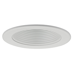 White Baffle Trim for 4-Inch Line and Low Voltage Recessed Cans