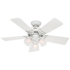 Hunter Fan Company Southern Breeze White Ceiling Fan with Light