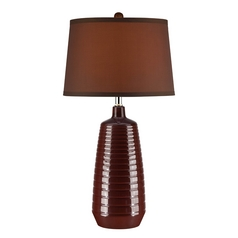 Lite Source Lighting Ailani Coffee Table Lamp with Drum Shade